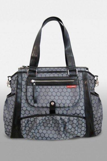 сумка для мамы studio tote charcoal dot skip hop