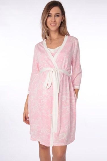 Ночнушка с халатом для беременных 31
