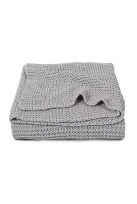 вязаный плед heavy knit 75х100 см light grey