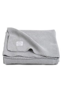 вязаный плед basic knit 100х150 см light grey