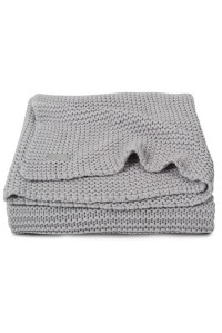вязаный плед heavy knit 100х150 см light grey